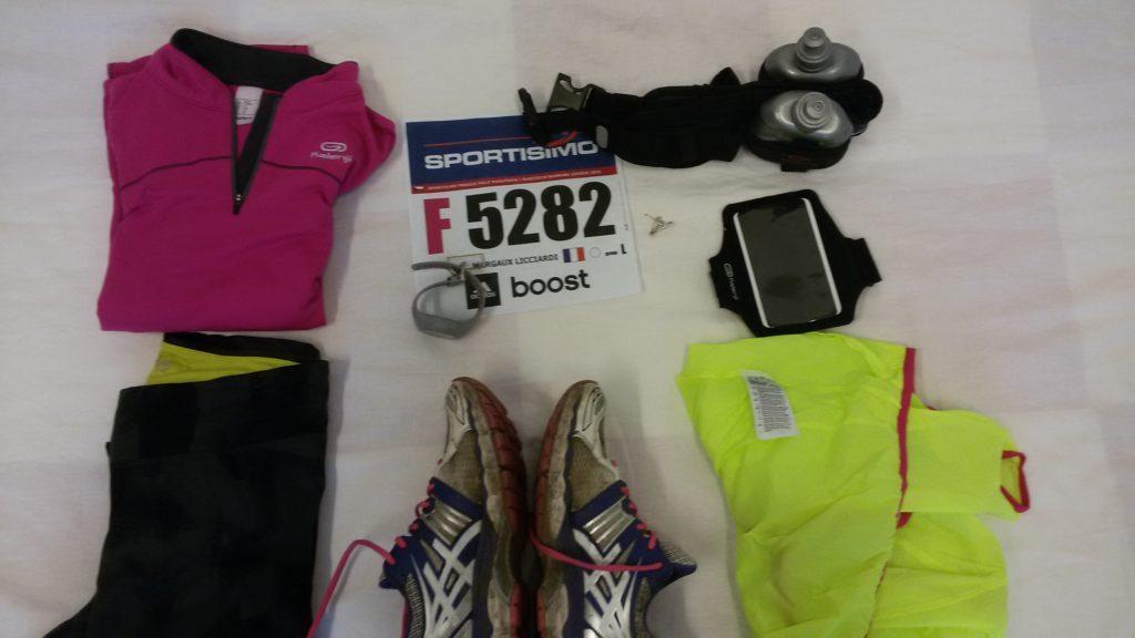 mon racepack pour le semi marathon de Prague