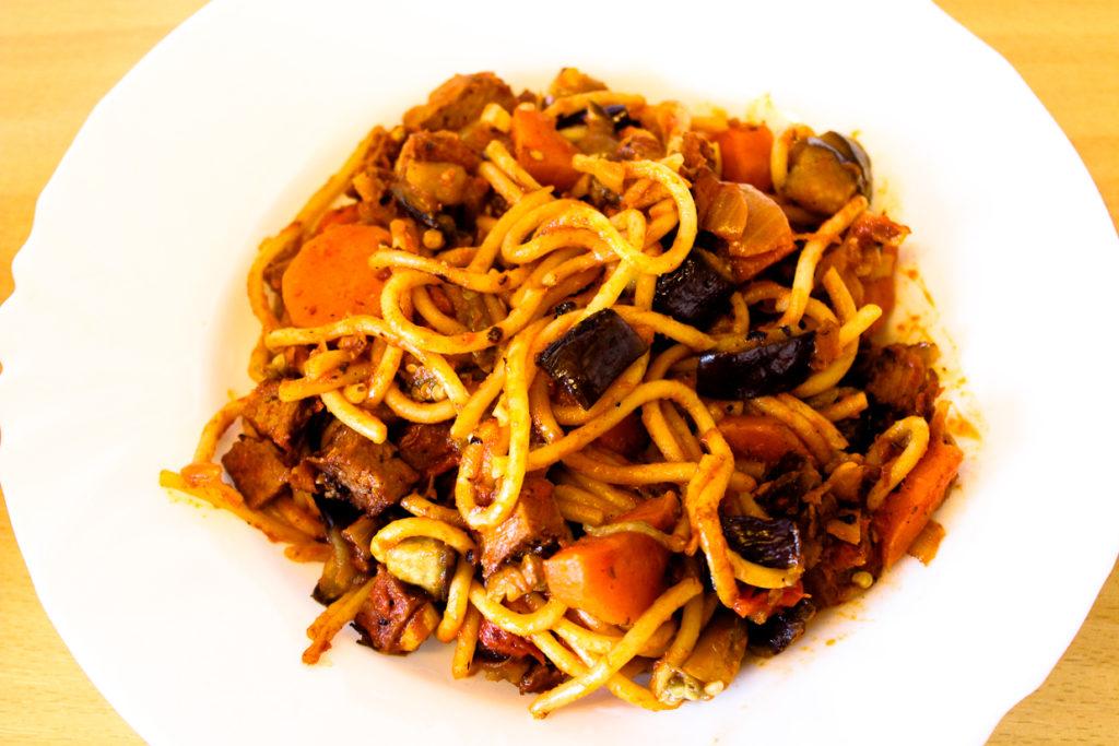 spaghettis bolognaises végétariens
