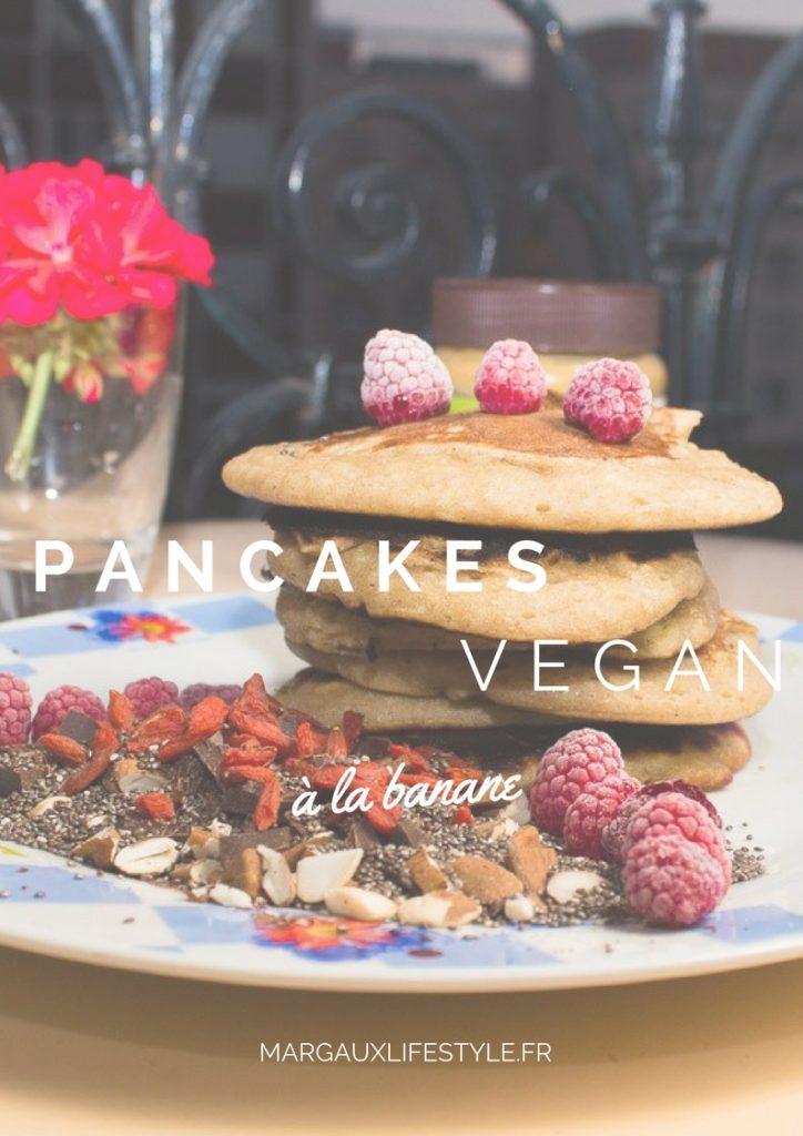pancakes vegan la banane pour un petit d j healthy margaux lifestyle. Black Bedroom Furniture Sets. Home Design Ideas