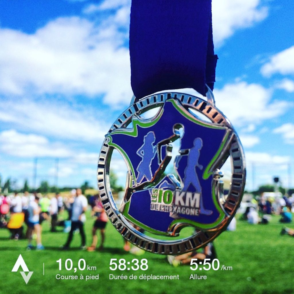 mon chrono aux 10 km de l'Hexagone 2017