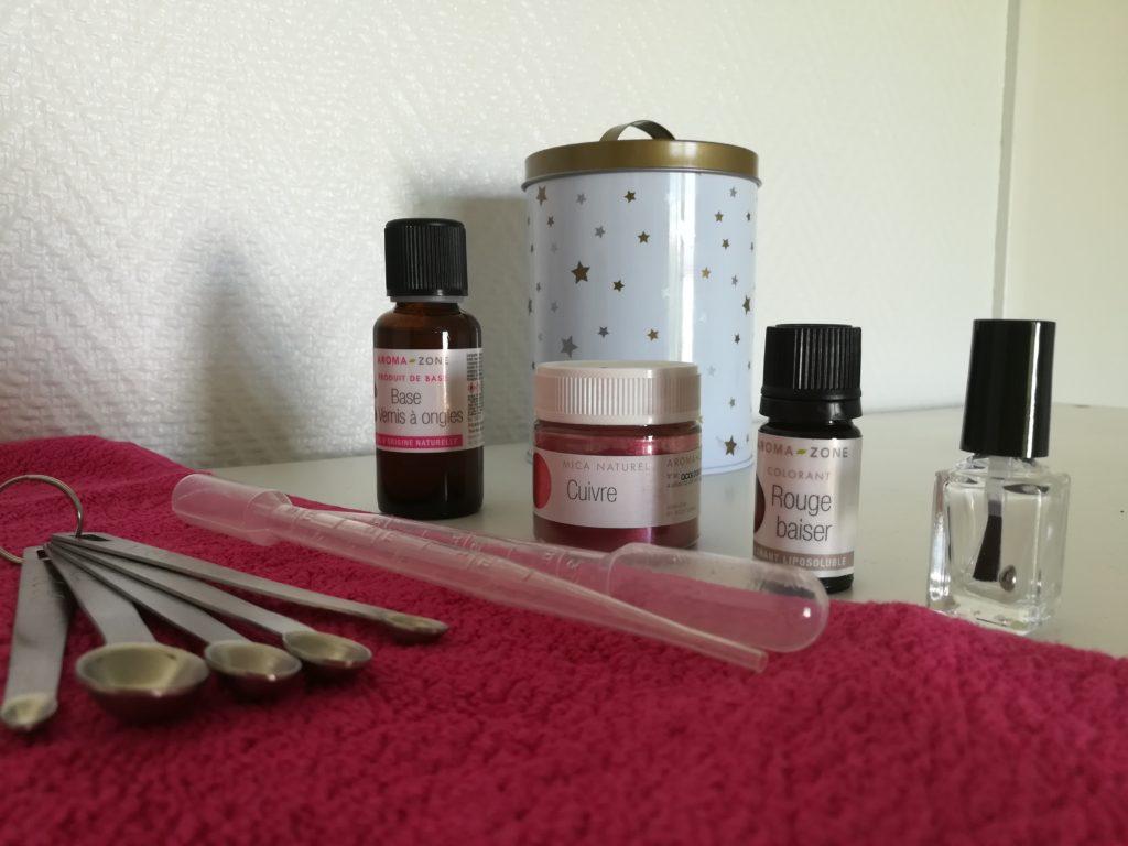 faire son vernis naturel avec aroma zone