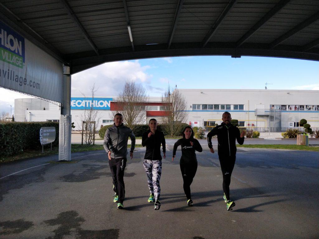 Première mission en tant qu'ambassadrice fitness walking à Mérignac avec Newfeel, Yohann Diniz et Benjamin Leauté