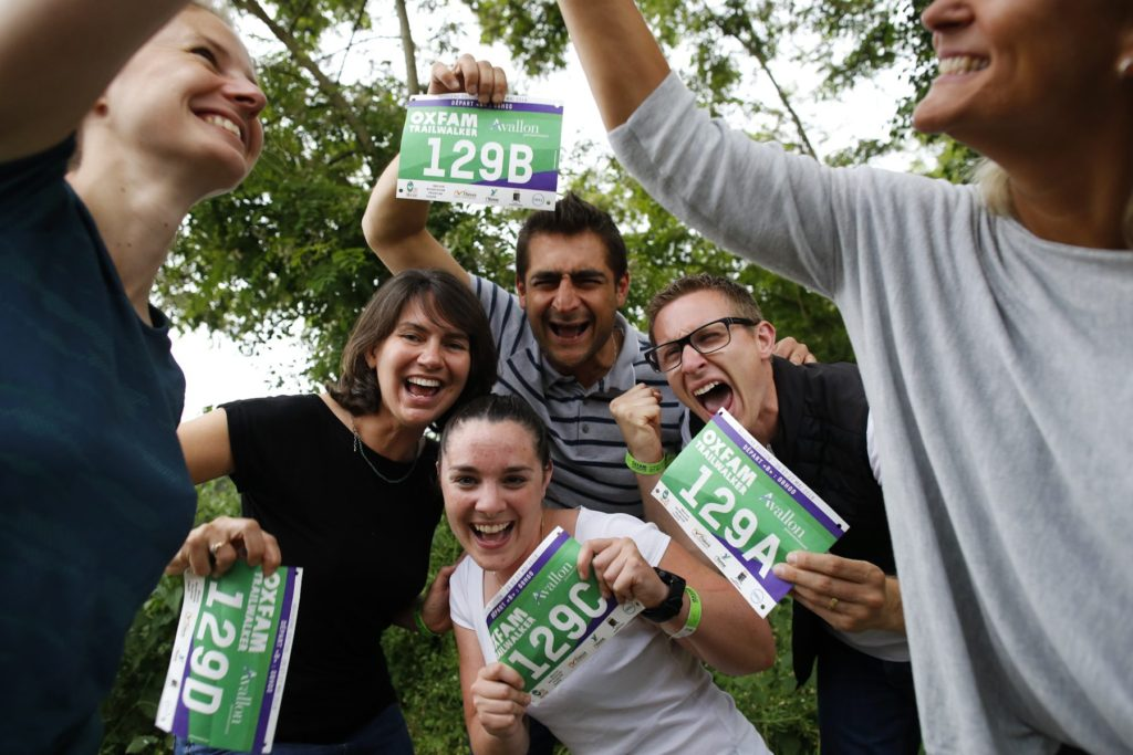La Newfeel Team au retrait des dossards de l'OXFAM TrailWalker 2018