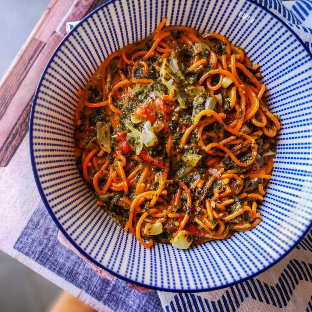 one-pot pasta épinards-tomates