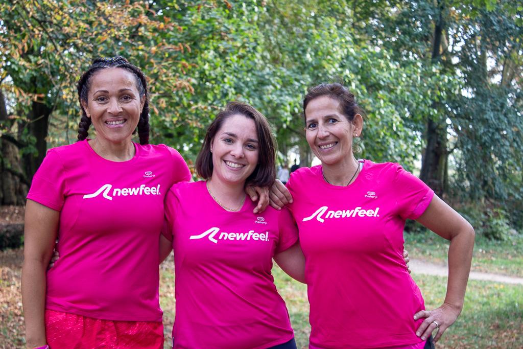 Nadia Runs Paris, Vanessa ExoChic et moi sous les couleurs de Newfeel pour la marche solidaire d'Odysséa